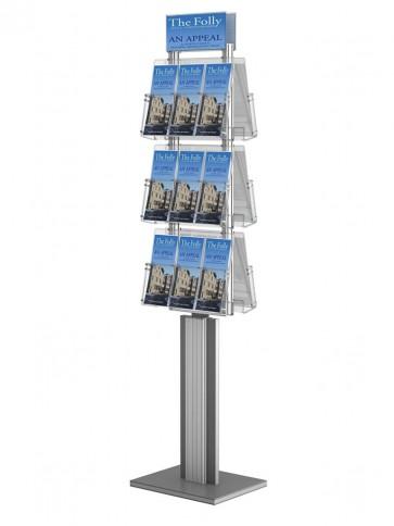 Dwustronny obrotowy stojak na ulotki 6 kieszeni A4 poziomo ( ulotki A4,A5 i DL ) Art 3088V6