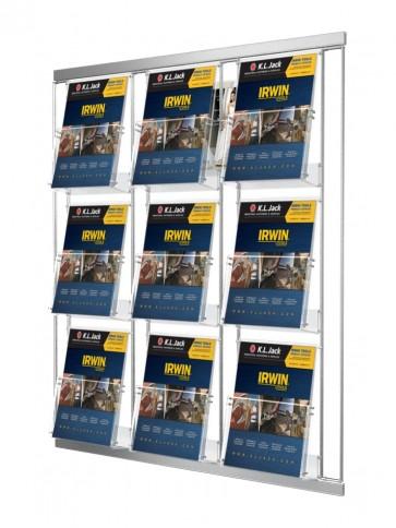 Modułowy zestaw kieszeni 9 x A4 pionowo szer 23cm Art 213V2