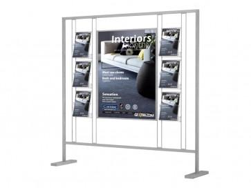 Ścianka prezentacja do prezentacji plakatu B1+6 kieszeni A4pionowo Art 022