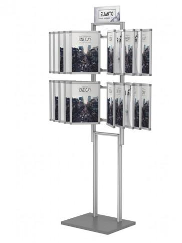 Składana przeglądarka plakatów A4 20 ramek+tabliczka DL (toper) Art 499