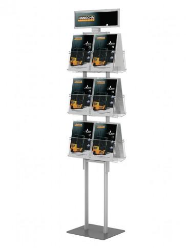 Składany stojak ( prezenter ulotek ) stand na ulotki 12 kieszeni A4 pionowo Art 288v6