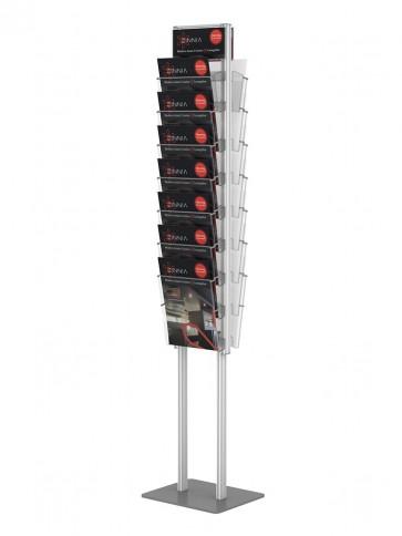 Stojak składany dwustronny na ulotki 14 xA4  art 368v2