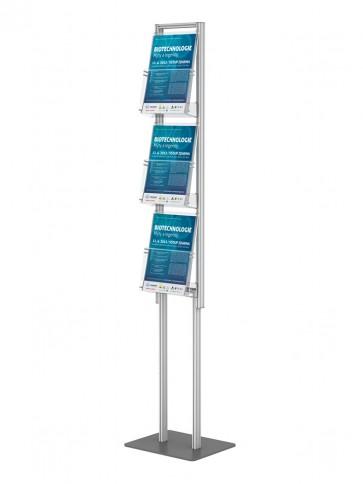 Składany stojak na ulotki 3 kieszenie A4 pionowo art 395