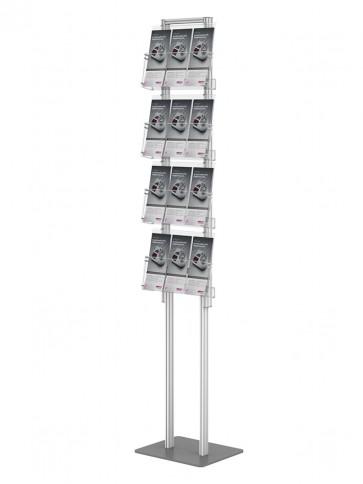 Składany stojak na ulotki +4 kieszenie A4 poziomo (ulotki A4 A5 i DL ) art 373