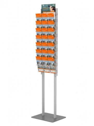 Składany stojak na ulotki + 6 kieszeni A4 poziomo (ulotki A4 A5 i DL )  Art 272v6