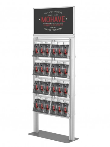 Prezenter ulotek / stand / stojak na plakat +16xA4 poziomo. Art 025