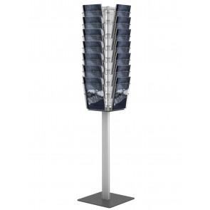 Obrotowy stojak na ulotki 28 kieszeni A4 pionowo grafitowy  Art 3100 v2