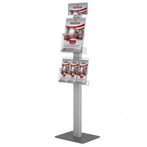 Prezenter 120cm / ekspozytor / stojak na ulotki 1xA4 pionowo i 1xA4 poziomo Art 3614