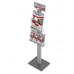 Prezenter 120cm / ekspozytor / stojak na ulotki 1xA4 pionowo i 1xA1 poziomo Art 3614