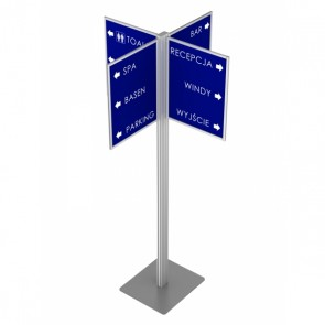 Tablica informacyjna na statywie z 4 ramkami 40x50cm  Art.016