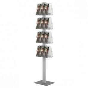 Składany stojak na ulotki dwustronny + 8 kieszeni A4 poziomo art 377A