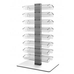 Dwustronny obrotowy stojak na lakiery do paznokci (140) Art  822v3 b