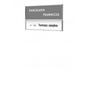 Tabliczka - zestaw profili informacyjnych 54 x 147mm  Art 071