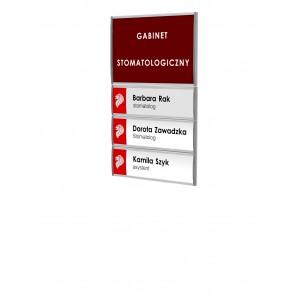 Tabliczka - zestaw profili informacyjnych 72x107mm  Art 073