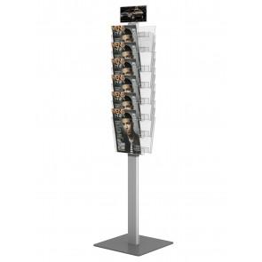 Dwustronny obrotowy stojak na ulotki 12 kieszeni A4 pionowo Art 3083