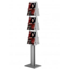 Dwustronny stojak na ulotki 6xA4 pionowo-obrotowy  Art 3091