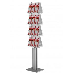 Dwustronny stojak na ulotki 8xA4 poziomo-obrotowy Art 3088