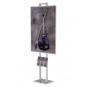 Składany stojak / prezenter na plakat B1 na statywie + kieszeń A4,uniwersalna na ulotki Art 512