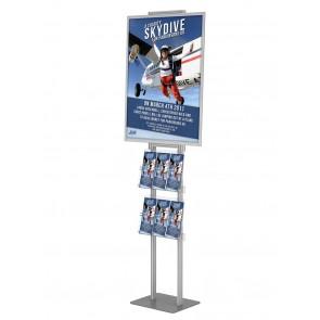 Składany stojak - prezenter plakatu B2 na statywie