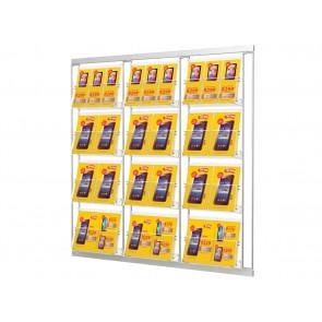 Prezenter 12 kieszeni na ulotki szerokości 31cm.  Art.214V4