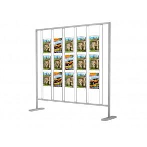 Ścianka prezentacyjna - 15 kieszeni na ulotki A4 w pionie Art 020