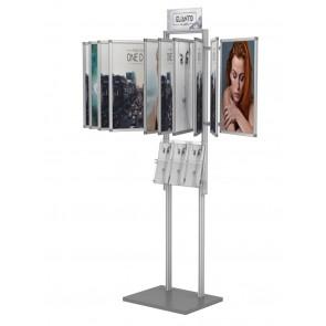 Składana przeglądarka plakatów A3 10 ramek+kieszeń A4 poziomo+tabliczka DL Art 510