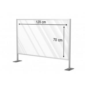 Aluminiowa przegroda formatu 120 x 70 cm. Art 031c