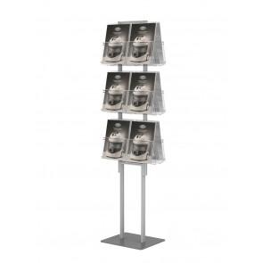 Składany (dwustronny ) stojak na ulotki 12 kieszeni  A4 art 288v3