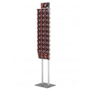 Składany stojak na ulotki + 10 kieszeni A4 poziomo art 376