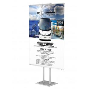 Składany wolnostojący prezenter plakatu z listwą plakatową B0 Art.514