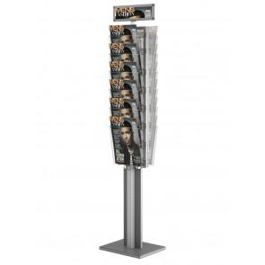 Dwustronny stojak na ulotki - obrotowy 12 x A4 pionowo art 3083