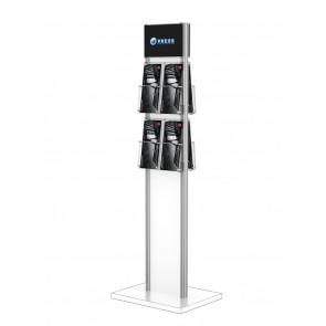Stojak na ulotki , prezenter , ekspozytor ulotek 4xDL i 1xA5 stojak na ulotki 4xDL. Art 602
