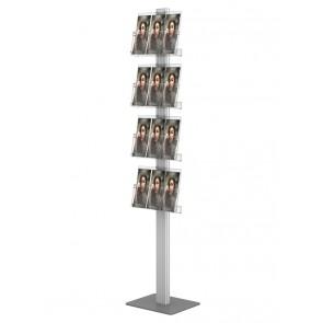 Prezenter na ulotki 4X A4 poziomo wysoki stojak na ulotki A4 A5 i DL szer. 31 cm Art 270A
