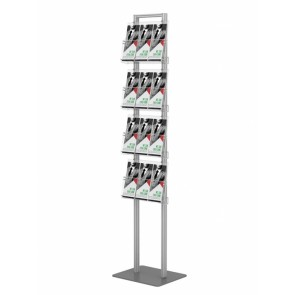 Prezenter na ulotki 4xA4 poziomo, wysoki stojak na ulotki A4 A5 i DL Art 270
