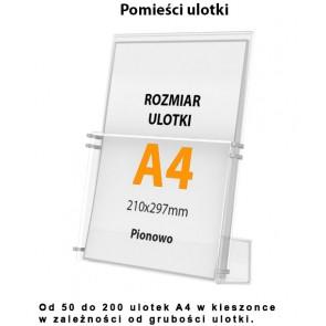 Kieszeń dodatkowa do stojaków w pionie A4  Art 006