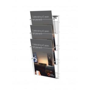 Prezenter na ulotki ,zestaw 3 kieszeni A4 na ścianę   Art 250
