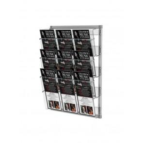 Prezenter na ulotki , zestaw 3 kieszeni A4 poziomo na ścianę    Art 212